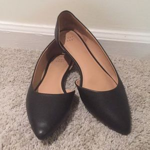 🌸 Chic A New Day Black Pointed Flats Sz 9 1/2